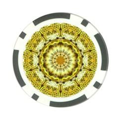 Fractal Flower Poker Chip Card Guard (10 Pack) by Simbadda