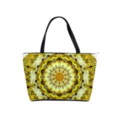 Fractal Flower Shoulder Handbags by Simbadda