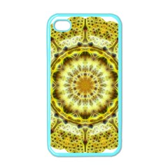 Fractal Flower Apple Iphone 4 Case (color) by Simbadda