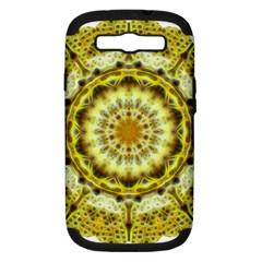 Fractal Flower Samsung Galaxy S Iii Hardshell Case (pc+silicone) by Simbadda