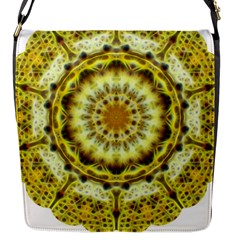 Fractal Flower Flap Messenger Bag (s) by Simbadda
