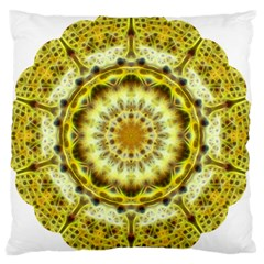 Fractal Flower Large Flano Cushion Case (two Sides) by Simbadda