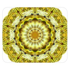 Fractal Flower Double Sided Flano Blanket (small)  by Simbadda