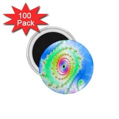 Decorative Fractal Spiral 1 75  Magnets (100 Pack)  by Simbadda