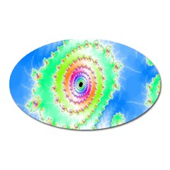Decorative Fractal Spiral Oval Magnet by Simbadda