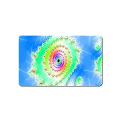 Decorative Fractal Spiral Magnet (name Card) by Simbadda