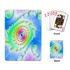 Decorative Fractal Spiral Playing Card by Simbadda