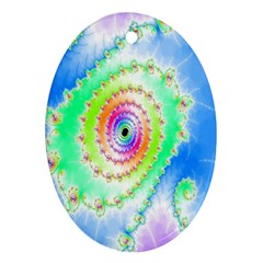 Decorative Fractal Spiral Oval Ornament (two Sides) by Simbadda
