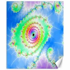 Decorative Fractal Spiral Canvas 8  X 10  by Simbadda