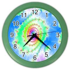 Decorative Fractal Spiral Color Wall Clocks by Simbadda