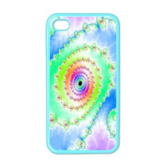 Decorative Fractal Spiral Apple Iphone 4 Case (color) by Simbadda