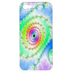 Decorative Fractal Spiral Apple Iphone 5 Hardshell Case by Simbadda