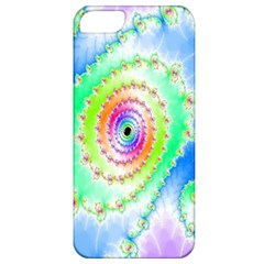 Decorative Fractal Spiral Apple Iphone 5 Classic Hardshell Case by Simbadda