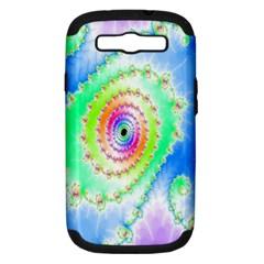 Decorative Fractal Spiral Samsung Galaxy S Iii Hardshell Case (pc+silicone) by Simbadda