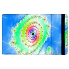 Decorative Fractal Spiral Apple Ipad 3/4 Flip Case by Simbadda