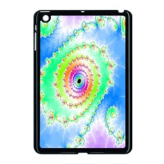 Decorative Fractal Spiral Apple Ipad Mini Case (black) by Simbadda