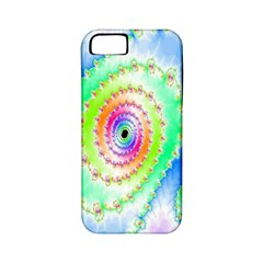 Decorative Fractal Spiral Apple Iphone 5 Classic Hardshell Case (pc+silicone) by Simbadda