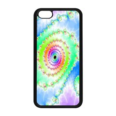 Decorative Fractal Spiral Apple Iphone 5c Seamless Case (black) by Simbadda