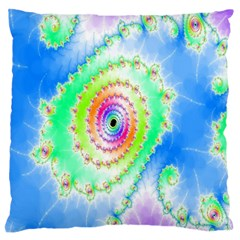 Decorative Fractal Spiral Standard Flano Cushion Case (two Sides) by Simbadda