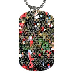 Colorful Abstract Background Dog Tag (one Side) by Simbadda