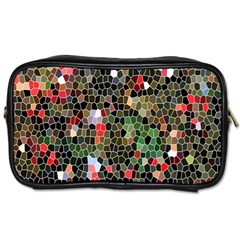 Colorful Abstract Background Toiletries Bags 2 Side by Simbadda