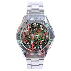 Colorful Abstract Background Stainless Steel Analogue Watch by Simbadda
