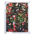 Colorful Abstract Background Apple iPad 2 Case (White) Front