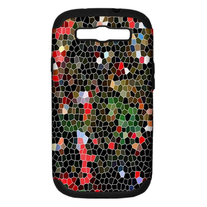 Colorful Abstract Background Samsung Galaxy S III Hardshell Case (PC+Silicone)