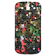 Colorful Abstract Background Samsung Galaxy S3 S Iii Classic Hardshell Back Case by Simbadda