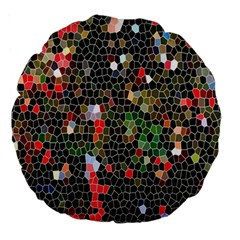 Colorful Abstract Background Large 18  Premium Round Cushions by Simbadda