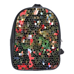 Colorful Abstract Background School Bags (xl)  by Simbadda