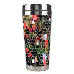 Colorful Abstract Background Stainless Steel Travel Tumblers by Simbadda