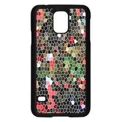 Colorful Abstract Background Samsung Galaxy S5 Case (black) by Simbadda