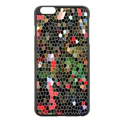 Colorful Abstract Background Apple Iphone 6 Plus/6s Plus Black Enamel Case by Simbadda