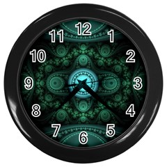 Grand Julian Fractal Wall Clocks (black) by Simbadda