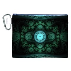 Grand Julian Fractal Canvas Cosmetic Bag (xxl) by Simbadda