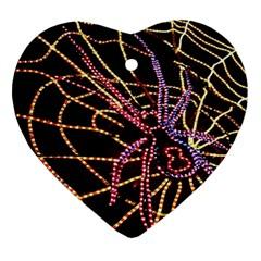 Black Widow Spider, Yellow Web Ornament (heart) by Simbadda