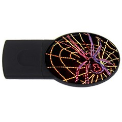 Black Widow Spider, Yellow Web Usb Flash Drive Oval (2 Gb) by Simbadda