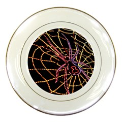 Black Widow Spider, Yellow Web Porcelain Plates by Simbadda