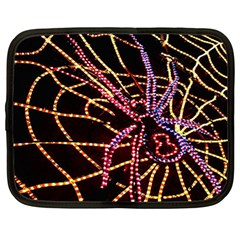 Black Widow Spider, Yellow Web Netbook Case (large) by Simbadda
