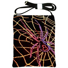 Black Widow Spider, Yellow Web Shoulder Sling Bags by Simbadda