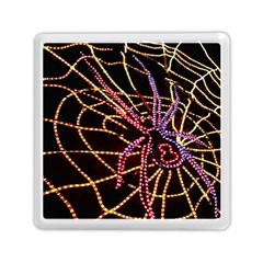 Black Widow Spider, Yellow Web Memory Card Reader (square)  by Simbadda