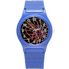 Black Widow Spider, Yellow Web Round Plastic Sport Watch (s) by Simbadda