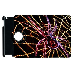 Black Widow Spider, Yellow Web Apple Ipad 2 Flip 360 Case by Simbadda