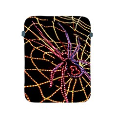 Black Widow Spider, Yellow Web Apple Ipad 2/3/4 Protective Soft Cases by Simbadda