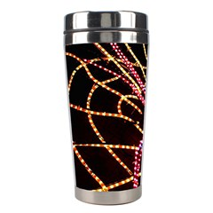 Black Widow Spider, Yellow Web Stainless Steel Travel Tumblers by Simbadda