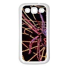 Black Widow Spider, Yellow Web Samsung Galaxy S3 Back Case (white) by Simbadda