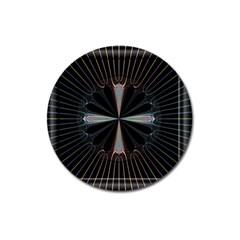 Fractal Rays Magnet 3  (round) by Simbadda
