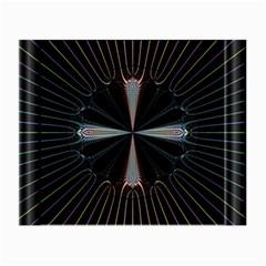 Fractal Rays Small Glasses Cloth by Simbadda