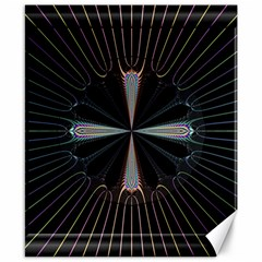 Fractal Rays Canvas 8  X 10  by Simbadda